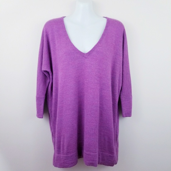 0211eee2830 Eileen Fisher Sweaters | Purple Royal Alpaca Vneck Sweater | Poshmark